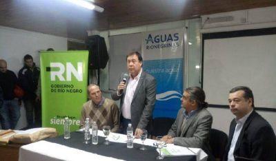 Gracias al Plan Castello, se reacondicionará sistema de agua potable en Roca que beneficiará a 25 mil familias