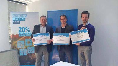 Se firmaron contratos para tres parques eólicos en Chubut