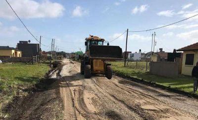Avances de obra en el plan pluvial del barrio Santa Elena