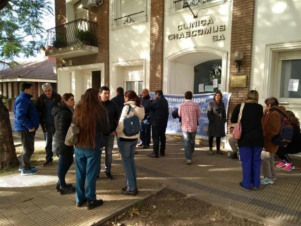 """El secretario general de ATSA pide que la Clínica Chascomús se haga cargo de sus responsabilidades: """"Nosotros no somos trabajadores de IOMA sino de la sanidad…"""""""