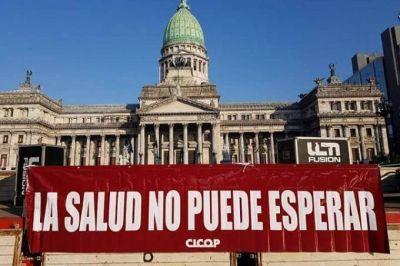 Tras el paro del viernes y la instalación de la carpa, Cicop insiste con el pedido de aumento a Vidal