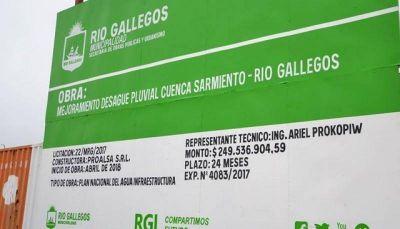 Mañana comienza la obra de desagües pluviales de Río Gallegos