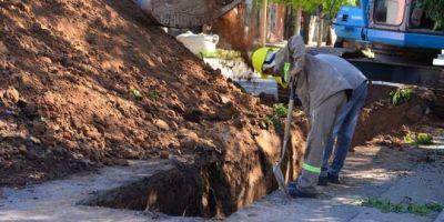 De Grandis destacó avances de obra de desagües pluviales