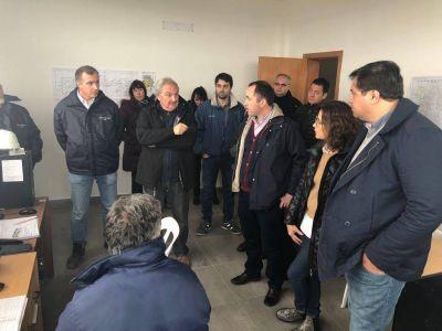 Legisladores provinciales de Mar del Plata recorrieron la obra de la futura estación Depuradora Cloacal