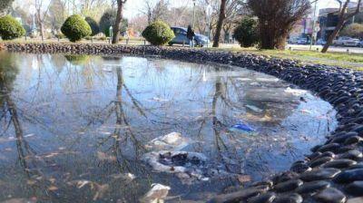 Corresponsal en la calle: Hojas secas y basura en las piletones del Parque Central