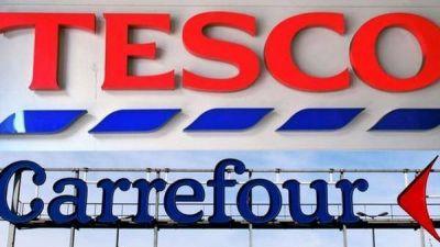 Las cadenas de supermercados Tesco y Carrefour firmaron una alianza estratégica para intentar reducir los costos