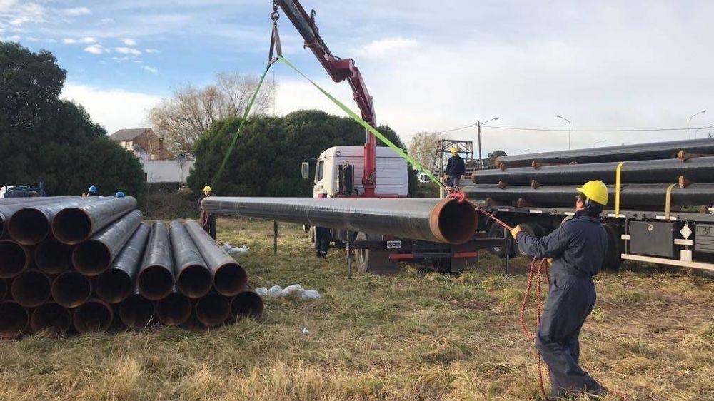 Llegan las cañerías para expandir la capacidad del gasoducto