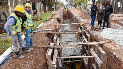 Avanzan dos grandes obras pluviales en el distrito noroeste