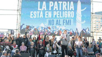 Con la bandera y el Himno contra el FMI