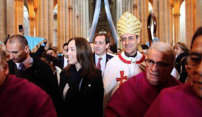 En La Plata, la Gobernadora tuvo que escuchar la dura crítica de la Iglesia