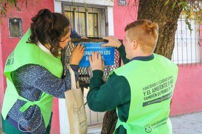 Separación de residuos: ya visitaron 2471 viviendas
