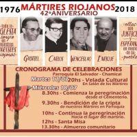 Misa en Chamical en conmemoración de los mártires riojanos