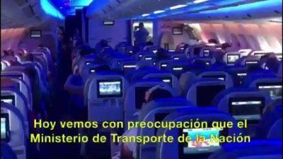 Aerolíneas Argentinas denunció al gremio APLA ante el Ministerio de Trabajo
