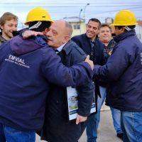 Funcionarios junto a vecinos inauguraron obras de calles de hormigón en Faro Norte