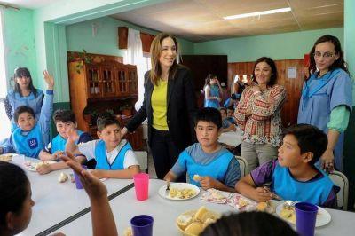 María Eugenia Vidal refuerza con $ 318 millones la ayuda alimentaria en la Provincia de Buenos Aires