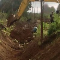 Continúan las obras para mejorar escurrimiento de las aguas en Arroyo Seco