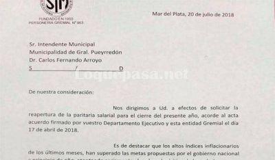 Paritarias: esta es la nota que presentó el Sindicato de Municipales al Intendente