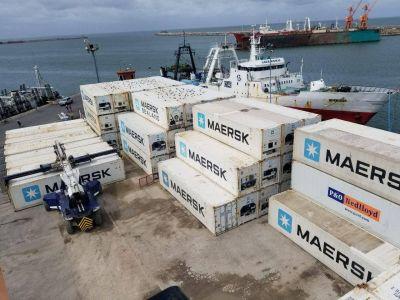 Aumentó un 20% el transporte marítimo por contenedores desde Mar del Plata