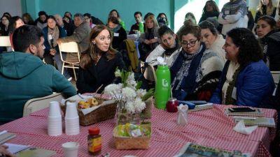 María Eugenia Vidal anunció una línea de apoyo económico a organizaciones comunitarias