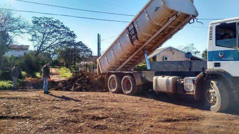 Obras Públicas: El municipio está finalizando las obras de saneamiento en barrio Jardín