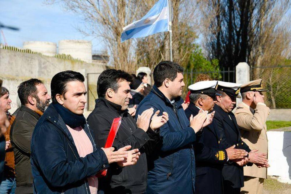 En el aniversario de Quequén, López se comprometió a recuperar la Estación de Tren