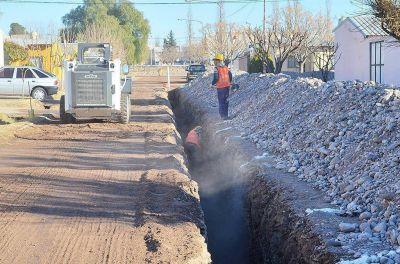 La Municipalidad avanza con las obras de cloacas y agua potable en San Rafael