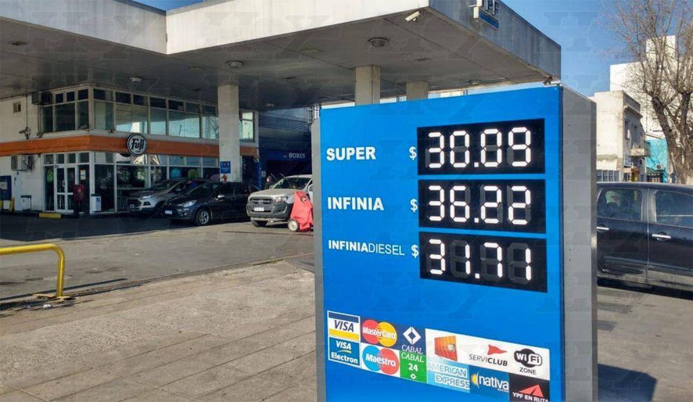 Nuevo aumento de YPF: la nafta súper cuesta $ 30,09 en la región