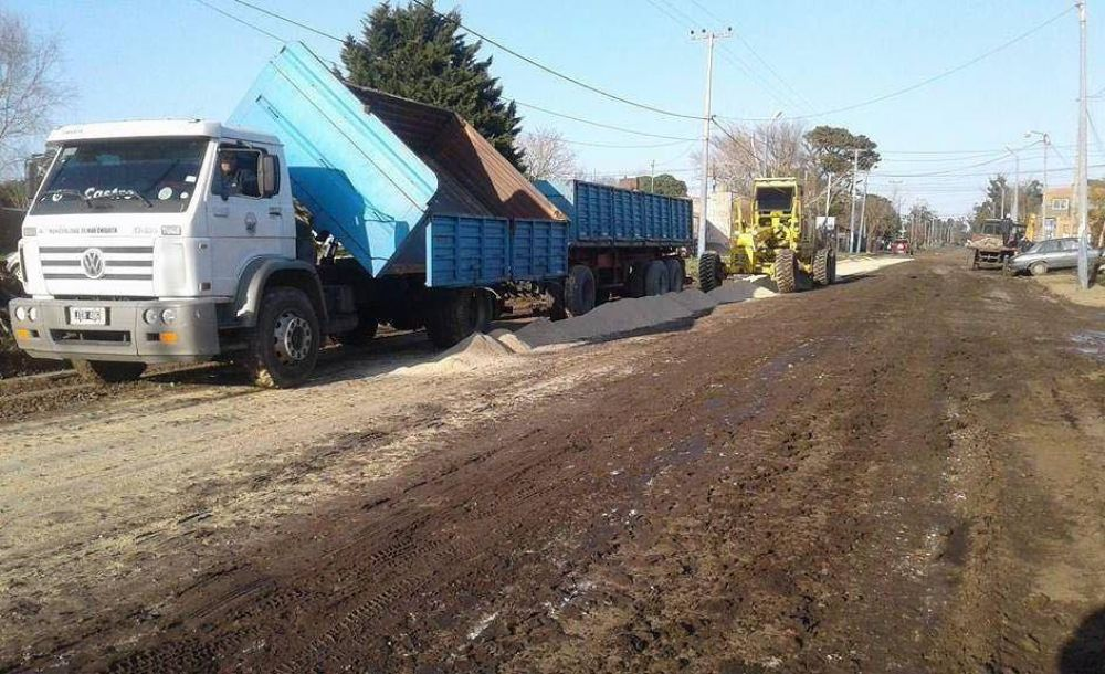 Etapa final para los trabajos sobre avenida Montevideo en Santa Clara del Mar