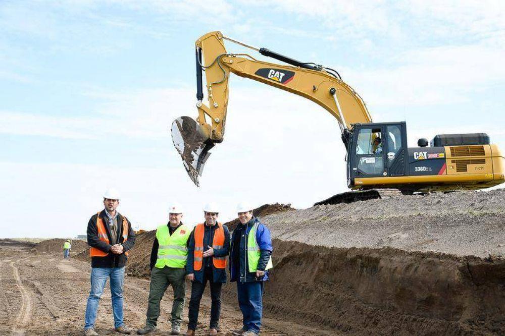 Parque Eólico: la impactante obra avanza con la excavación de las bases