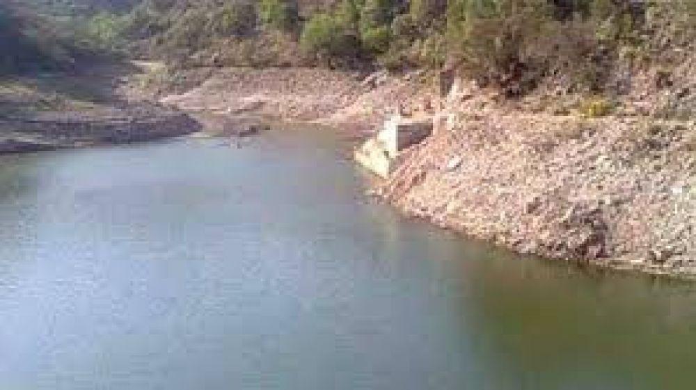 Preocupación por el bajo nivel de agua del dique La Quebrada