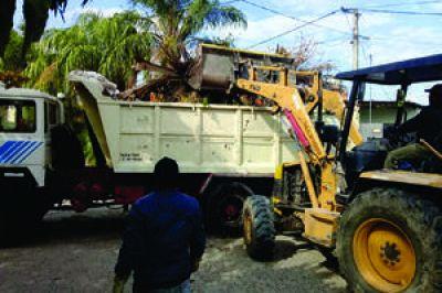 Tareas de recolección de residuos voluminosos
