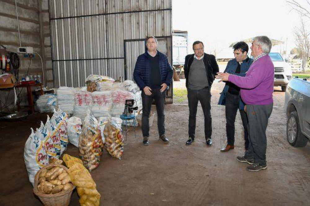 El Intendente visitó una planta procesadora de papa que sigue invirtiendo para mejorar su producción