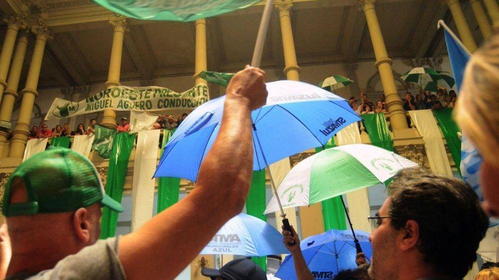 Los trabajadores municipales resolvieron un paro de 48 horas con movilización