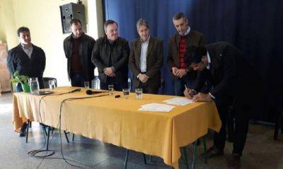 Anunciaron el inicio de la obra de Cloacas –sector suroeste-