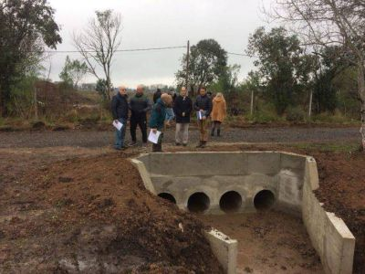 Avanzan las obras por el programa Diálogos Hídricos en Villa Rosa