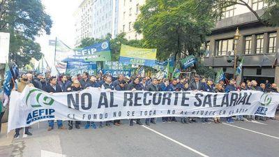 Trabajadores de la AFIP en pie de guerra