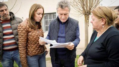 Macri y Vidal encabezaron el timbreo en Luján
