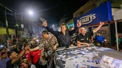 Sergio Massa celebró el triunfo del Frente Renovador en La Banda