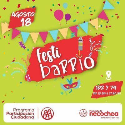 Llega FestiBarrio, una actividad pensada para el festejo con los vecinos