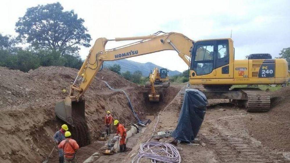 Nuevas obras hídrica-cloacal en municipios de Anta