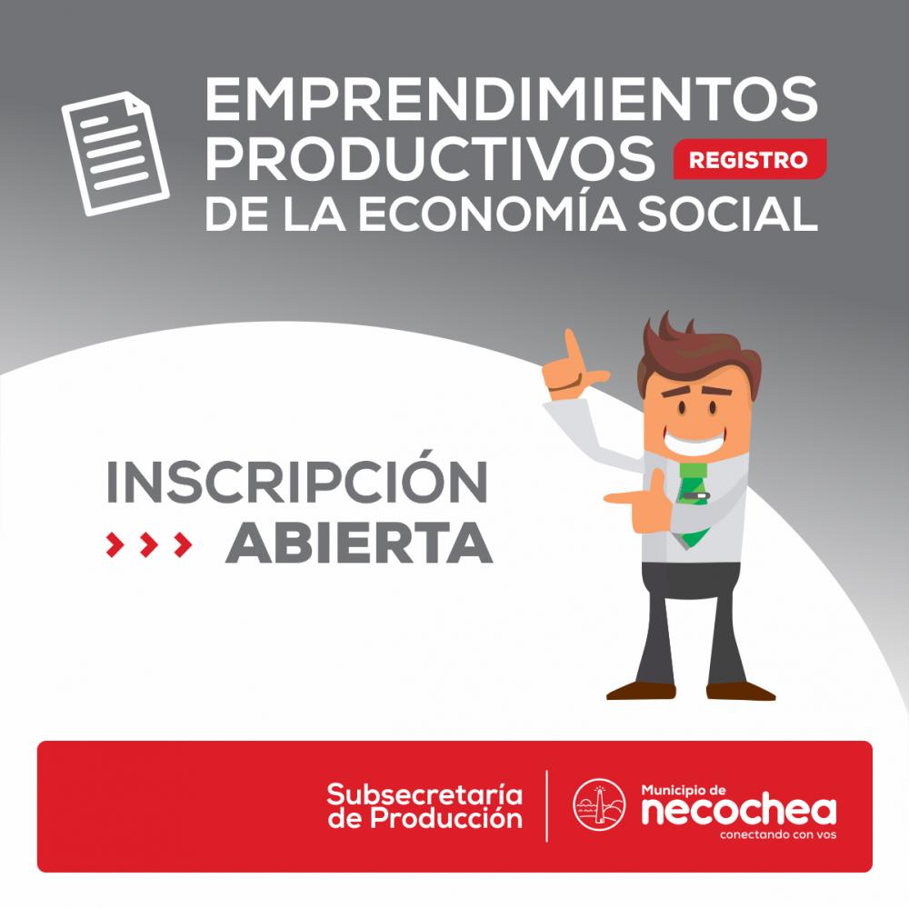 Está abierto el Registro de Emprendimientos Productivos