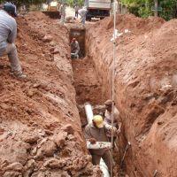 Ingresa en la etapa final una obra de saneamiento que beneficia a 7.000 vecinos