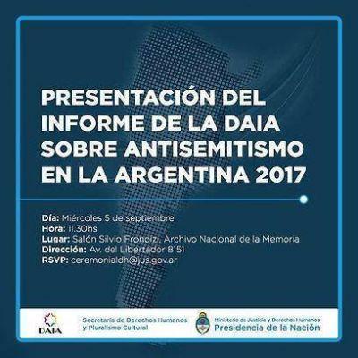 La DAIA presentará el Informe Anual sobre antisemitismo en la Argentina