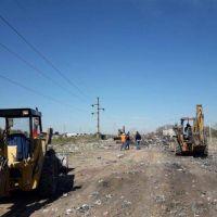 Mega-operativo de saneamiento y limpieza del basural de Arribálzaga y Nicaragua