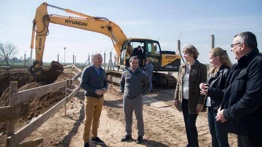 Coronda: avanza la construcción de una planta de tratamiento de efluentes