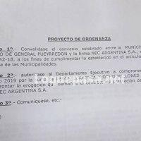 Cámaras: Arroyo pide convalidar convenio con la firma NEC por 48 millones de pesos