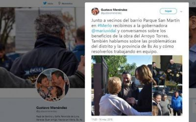 Gustavo Menéndez se burló de una mujer que le reclamaba por el estado de las escuelas