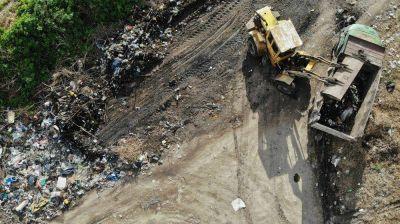 El Municipio realizó un megaoperativo de limpieza de macrobasurales