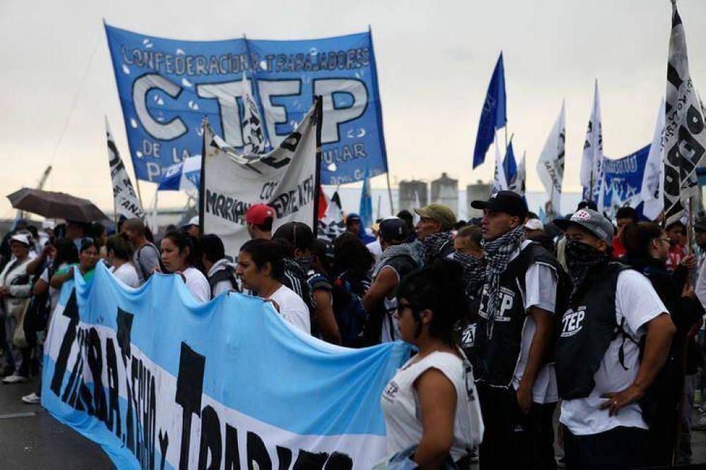 El Movimiento Evita y la CTEP apoyan el Paro General de la CGT
