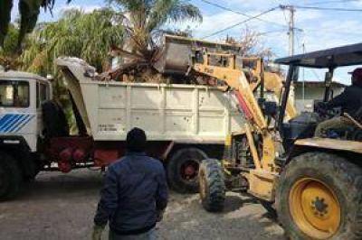 Permanentes tareas de recolección de residuos voluminosos